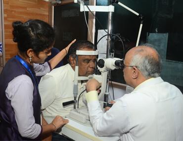 M M Joshi - Rural Eye Camps
