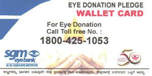 Eye Donation Pledge Card