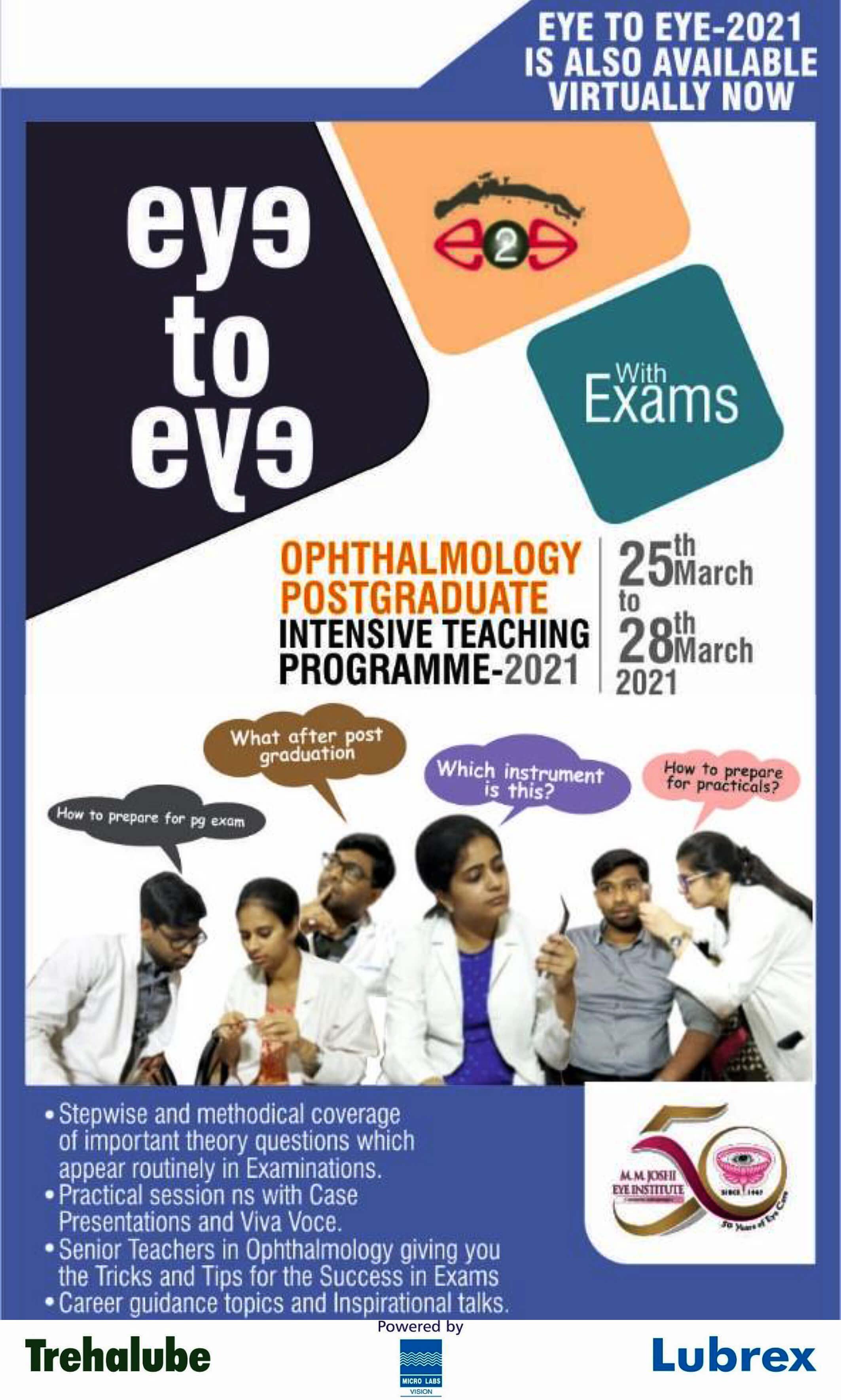 Eye to Eye 2021 - Register Now